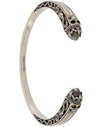 Alexander McQueen - Twin Skull Bracelet - Lyst