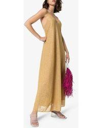 Oséree Lumiere Lamé Slip Dress - Multicolour