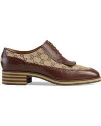 Gucci GG Brogue Shoes - Brown