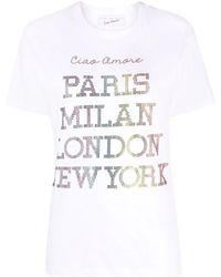 Giada Benincasa White T-shirt With Printing