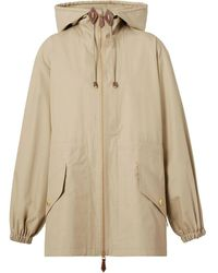 Burberry Lightweight Hooded Jacket - Brown