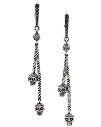 Alexander McQueen - Embellished Skull Clip-on Earrings - Lyst
