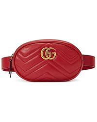 Gucci GG Marmont Belt Bag Rosso - Red