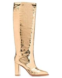 Gianvito Rossi Metallic Knee-high Boots
