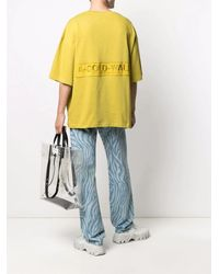 A_COLD_WALL* Yellow Oversized Logo-embroidered Cotton T-shirt