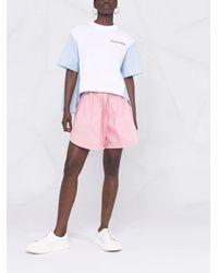Alexander McQueen Pink Polyfaille Shorts