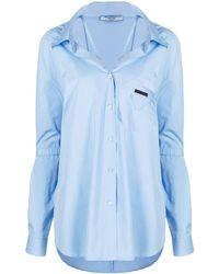 Prada Camicia con dettaglio fibbia - Blu