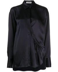 Jil Sander - Wrap-style Asymmetrical Blouse - Lyst