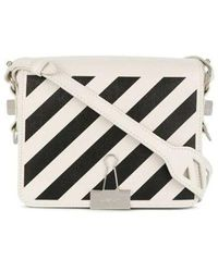 Off-White c/o Virgil Abloh Diag Binder Clip Shoulder Bag - White