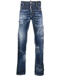 DSquared² Jeans blu con effetto vissuto
