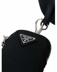 Prada Black Belt With Pouch And Logo