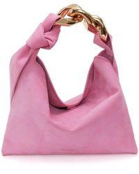 JW Anderson Small Pink Hobo Chain Bag