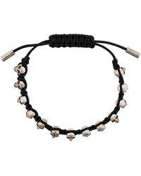Alexander McQueen - Skulls Drawstring Bracelet - Lyst