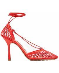 Bottega Veneta Red Stretch Sandals