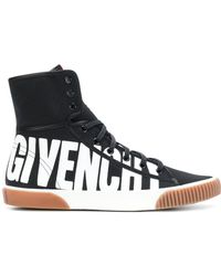 Givenchy - Logo Print Hi-top Trainers - Lyst