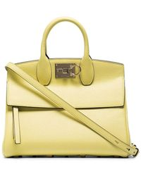 Ferragamo Yellow Ferragamo Studio Box Bag