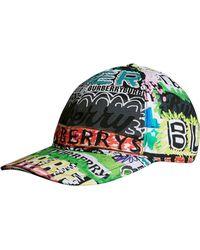 Burberry - Archive Logo Print Baseball Cap - Lyst