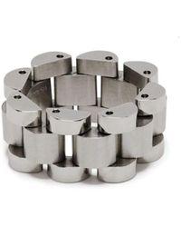 Ambush Silver Rollie Chain Ring - Metallic