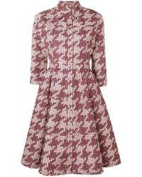 Bottega Veneta Silk Shirt Dress - Red