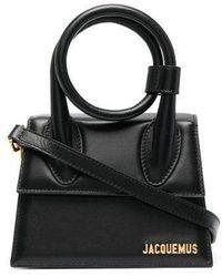 Jacquemus Black Le Chiquito Noeud Bag