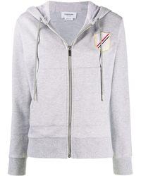 Thom Browne Grey Cotton Sweatshirt
