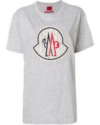Moncler - Crew Neck Short-sleeve T-shirt - Lyst