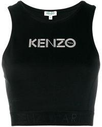 KENZO Brassiere con logo - Nero