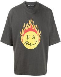 Palm Angels - T-shirt Burning Head - Lyst