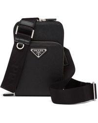 Prada Black Saffiano Leather Smartphone Case