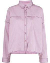 Philosophy Di Lorenzo Serafini - Checked Button-up Shirt Jacket - Lyst