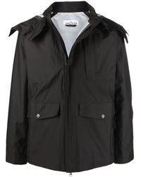 Stone Island Black Waterproof Hooded Jacket