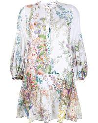 Charo Ruiz Floral-print Cotton Dress - Multicolour