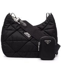 Prada Black Re-nylon Padded Hobo Bag