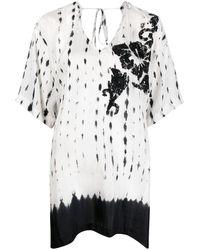 P.A.R.O.S.H. White Tie Dye Print Tunic
