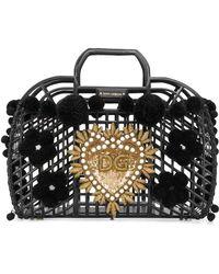 4e99c951f13 Dolce & Gabbana - Dolce E Gabbana Pvc Kendra Shopping Bag With Embroidery -  Lyst