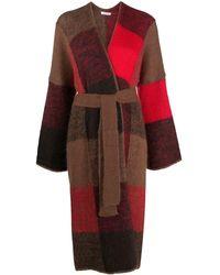 P.A.R.O.S.H. Lorain Patchwork Cardi-coat - Brown