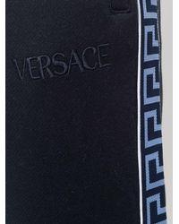 Versace Blue Greca Trim Sports Trousers