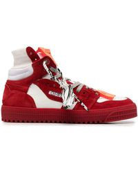 """Off-White c/o Virgil Abloh High Top """"off-court"""" 3.0 Trainers In White And Red"""