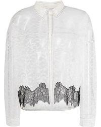 Philosophy Di Lorenzo Serafini White Floral Lace Shirt