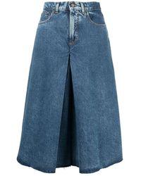 Maison Margiela Spliced Recycled Denim Culotte Pants - Blue