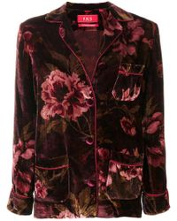 For Restless Sleepers - Floral Velvet Jacket - Lyst