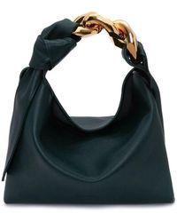 JW Anderson Small Green Hobo Chain Bag