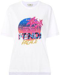 Fendi Logo Patch T-shirt - Multicolour