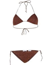 Oséree Textured Fitted Bikini - Brown