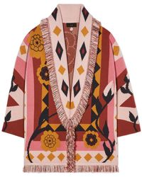 Alanui Desert Bloom Pink Cardigan