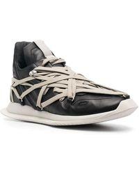Rick Owens Black Phlegethon Megalaced Runner Sneakers