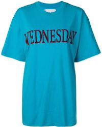 Alberta Ferretti 'wednesday' T-shirt - Blue