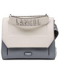 Lancel Blue And White Ninon De Flap Bag With Handle - Multicolour