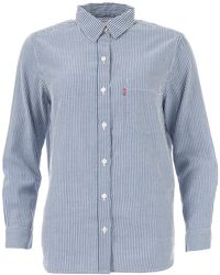Levi's The Perfect Boyfriend Shirt - Blue