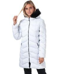 Brave Soul Kylie Padded Parka Jacket - White